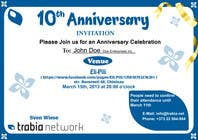 #86 for Corporate Party Invitation Design for 10th anniversary by venug381