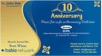 #103 for Corporate Party Invitation Design for 10th anniversary by venug381