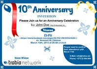 #88 for Corporate Party Invitation Design for 10th anniversary by venug381