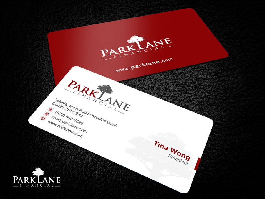 Business Card Design for Park Lane Financial